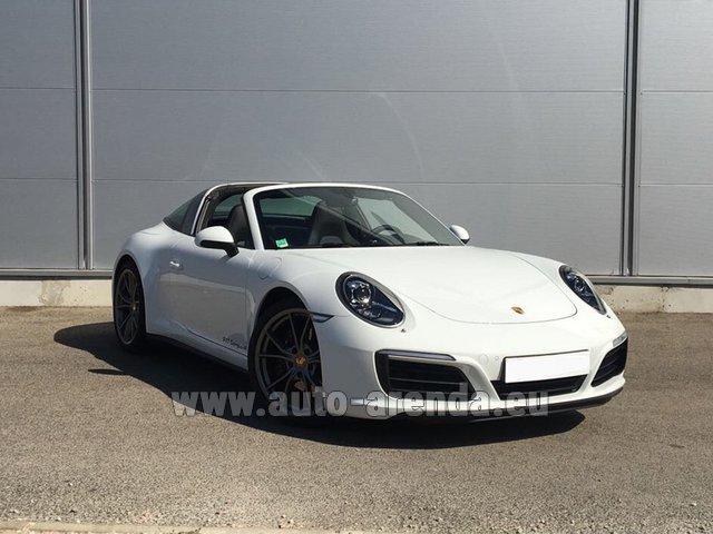 Rental Porsche 911 Targa 4S White in Menton