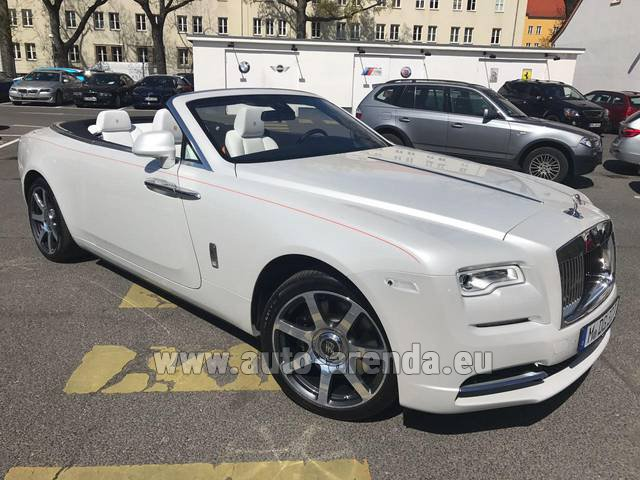 Rental Rolls-Royce Dawn (White) in Menton