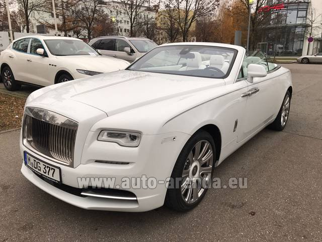 Rental Rolls-Royce Dawn in Menton
