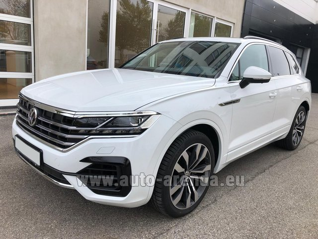 Hire and delivery to the Cannes airport the car Volkswagen Touareg 3.0 TDI R-Line