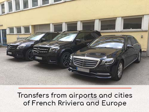 Transfers from airports and cities in French Riviera Cote d'Azur and Europe | Car rental with driver
